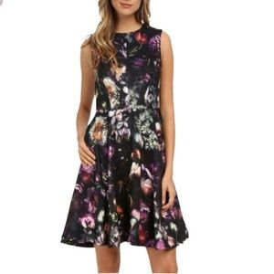 Ted Baker sleeveless floral fit and flare